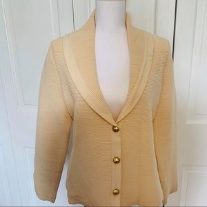 Escada Button Down Virgin Wool Blazer 38/M